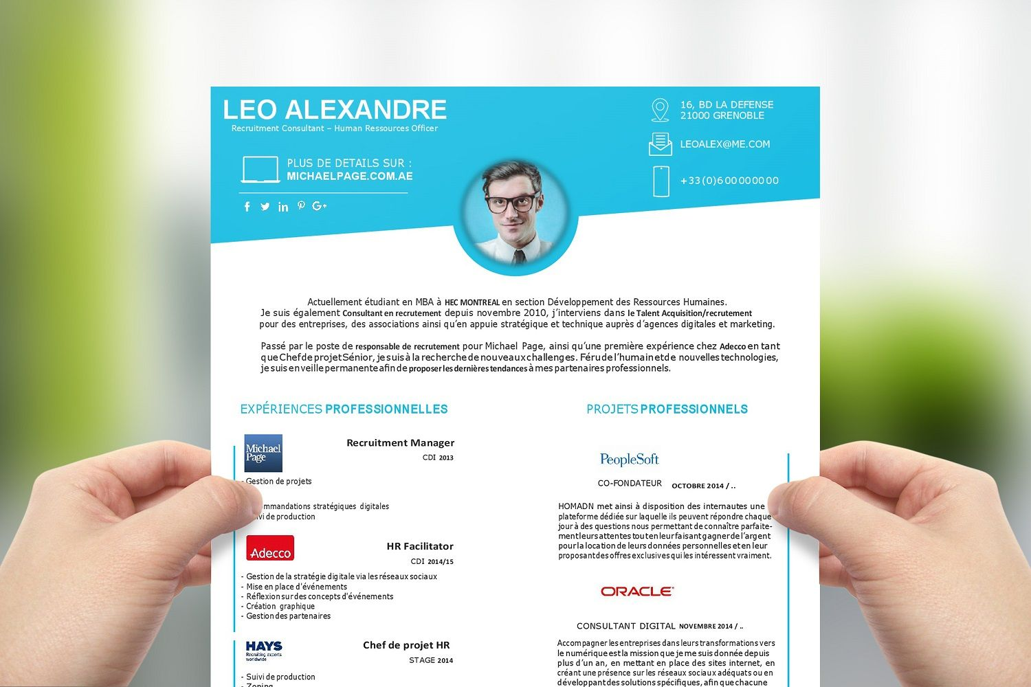 Cv Consultant Recrutement Cv Moderne Upcvup Cv Consultant Recrutement Exemple Cv