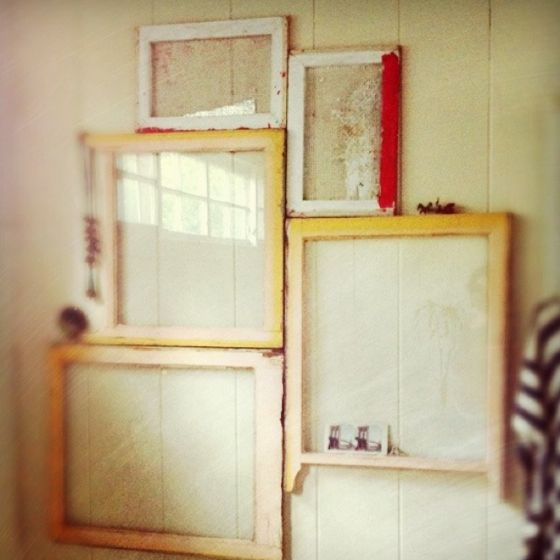 Discarded windows become wall art | Upcycled | Pinterest | Walls ...