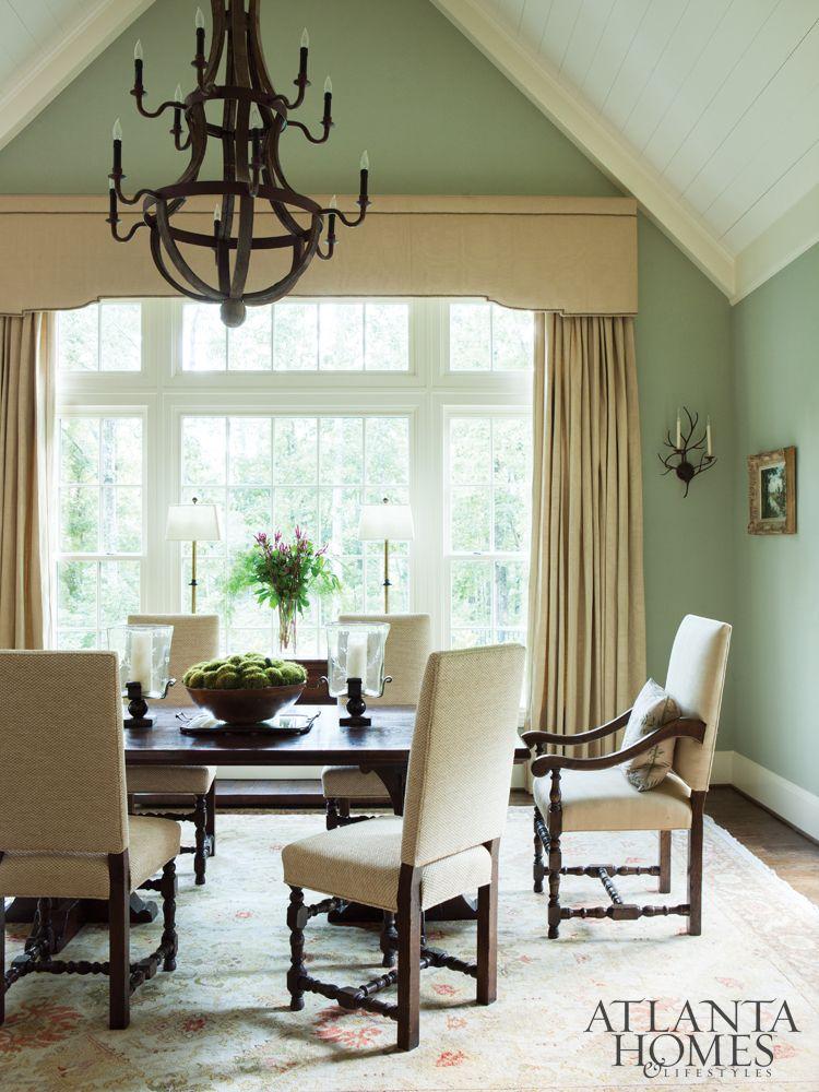 Sage Green Walls, Green Dining Room