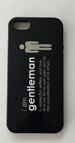 Amazon Com Peace Love World I Am Gentleman Black Case Iphone  Cell Phones Accessories