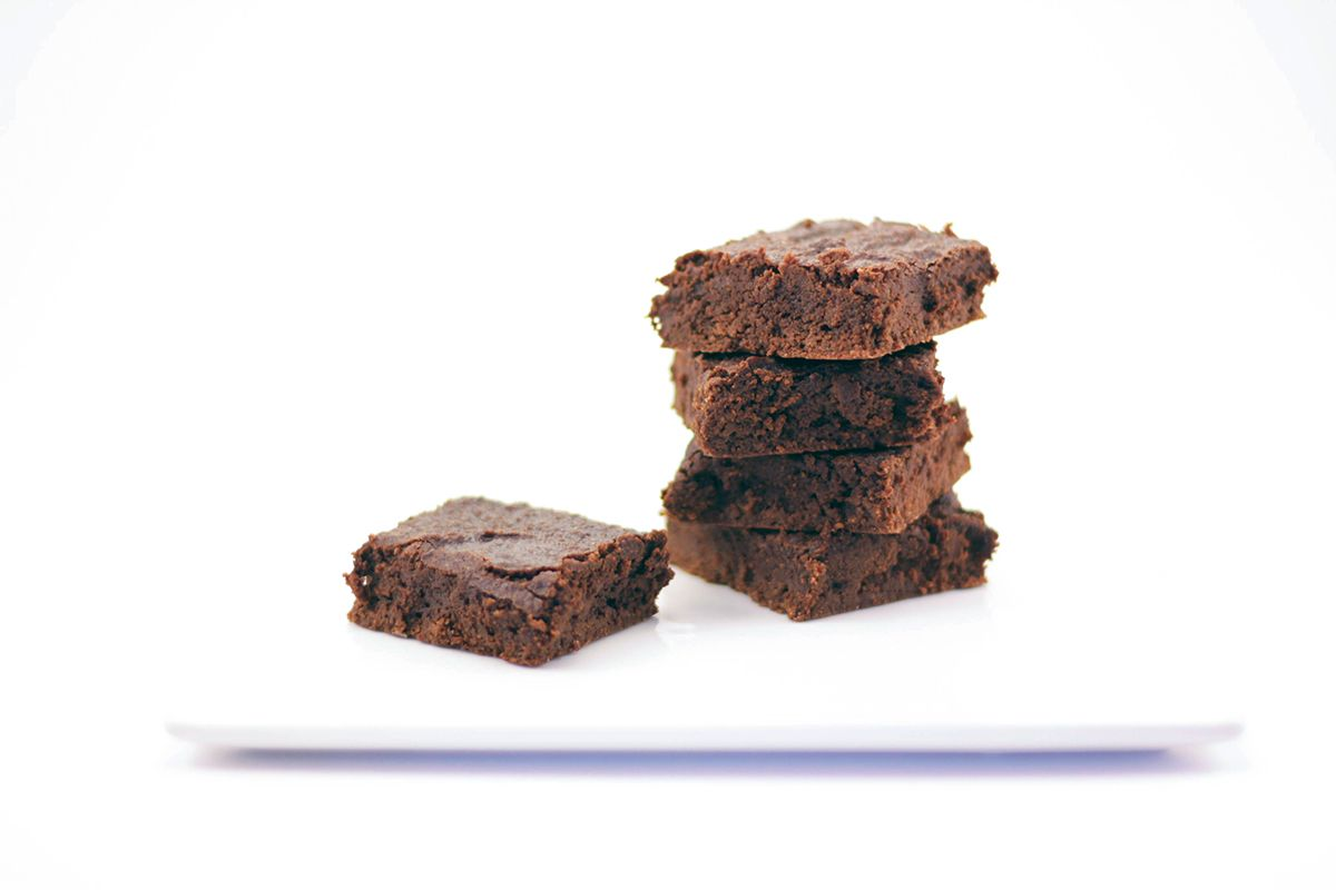 Gluten free chewy brownies swerve sweetener low carb