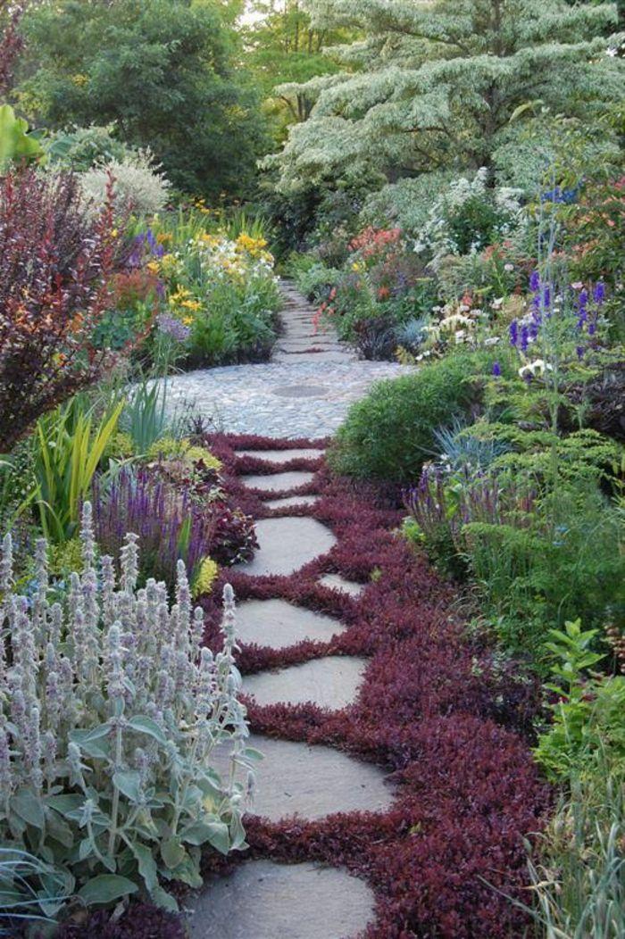 faire une alle de jardin en pierres revetement sol exterieur pas cher - Faire Une Allee De Jardin Pas Cher