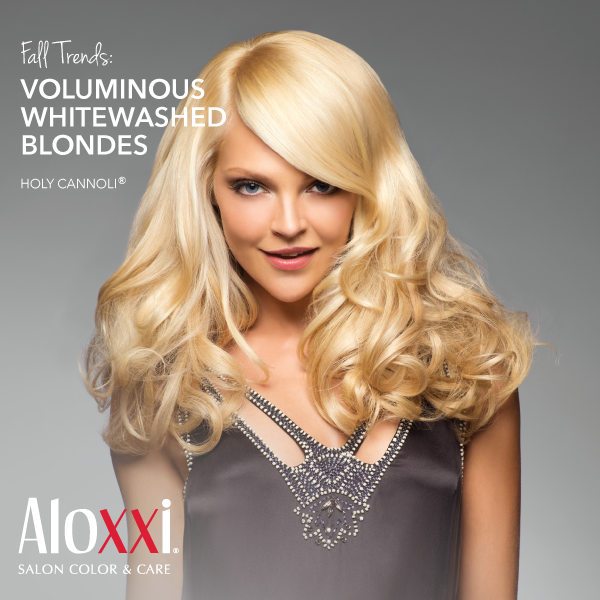 Fall Hair Trend Voluminous Whitewashed Blondes Aloxxi Hair Color