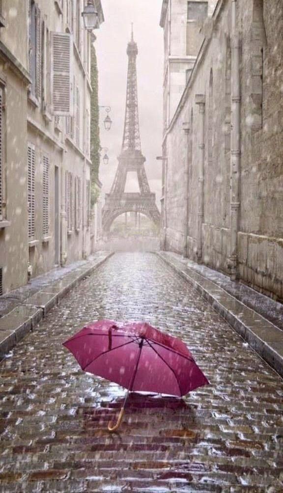 Paris Packing Inspiration Paris Sous La Pluie Parapluie Rouge