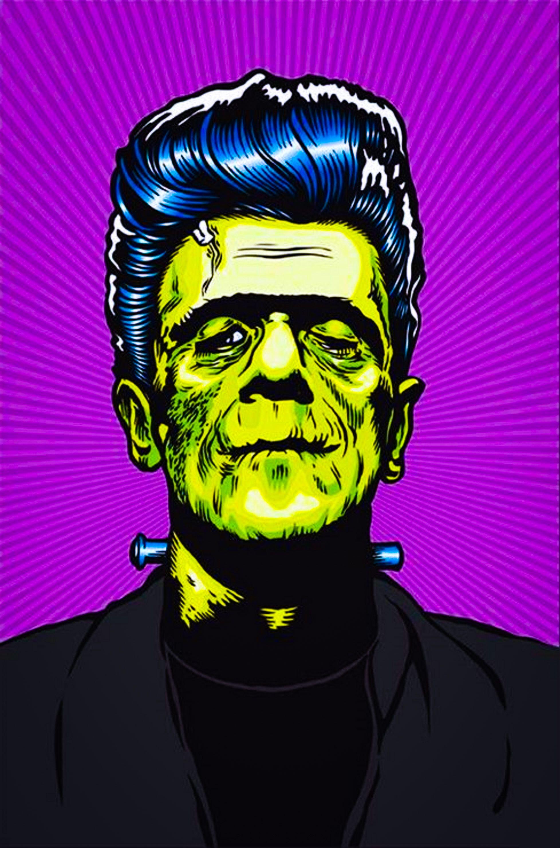 Rockabilly Greaser Frankenstein by Artist Ben Brown. http ...