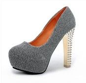 Image of [grdhjr2100018]Round round head princess high-heeled shoes fashion atmosphere