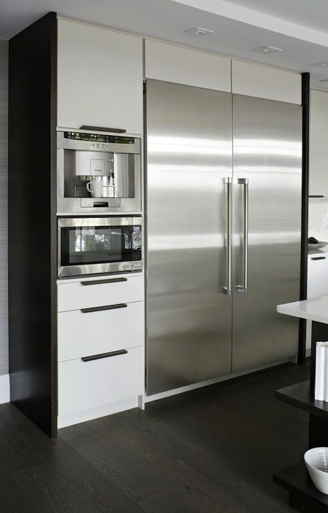 Virginia Macdonald Photography   Fantastic Modern Kitchen With Floor To  Ceiling Glossy White Lacquer Kitchen Cabinets