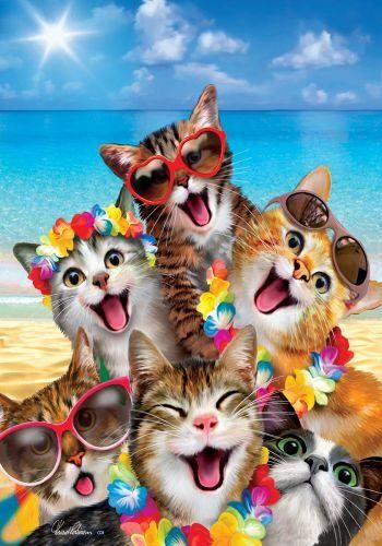 Beach Kittens Garden Flag