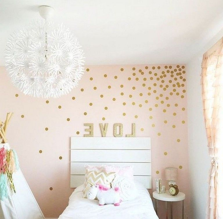 25 Cute Unicorn Bedroom Ideas For Kid Rooms Little Girl Rooms Girl Room Polka Dot Wall Decals