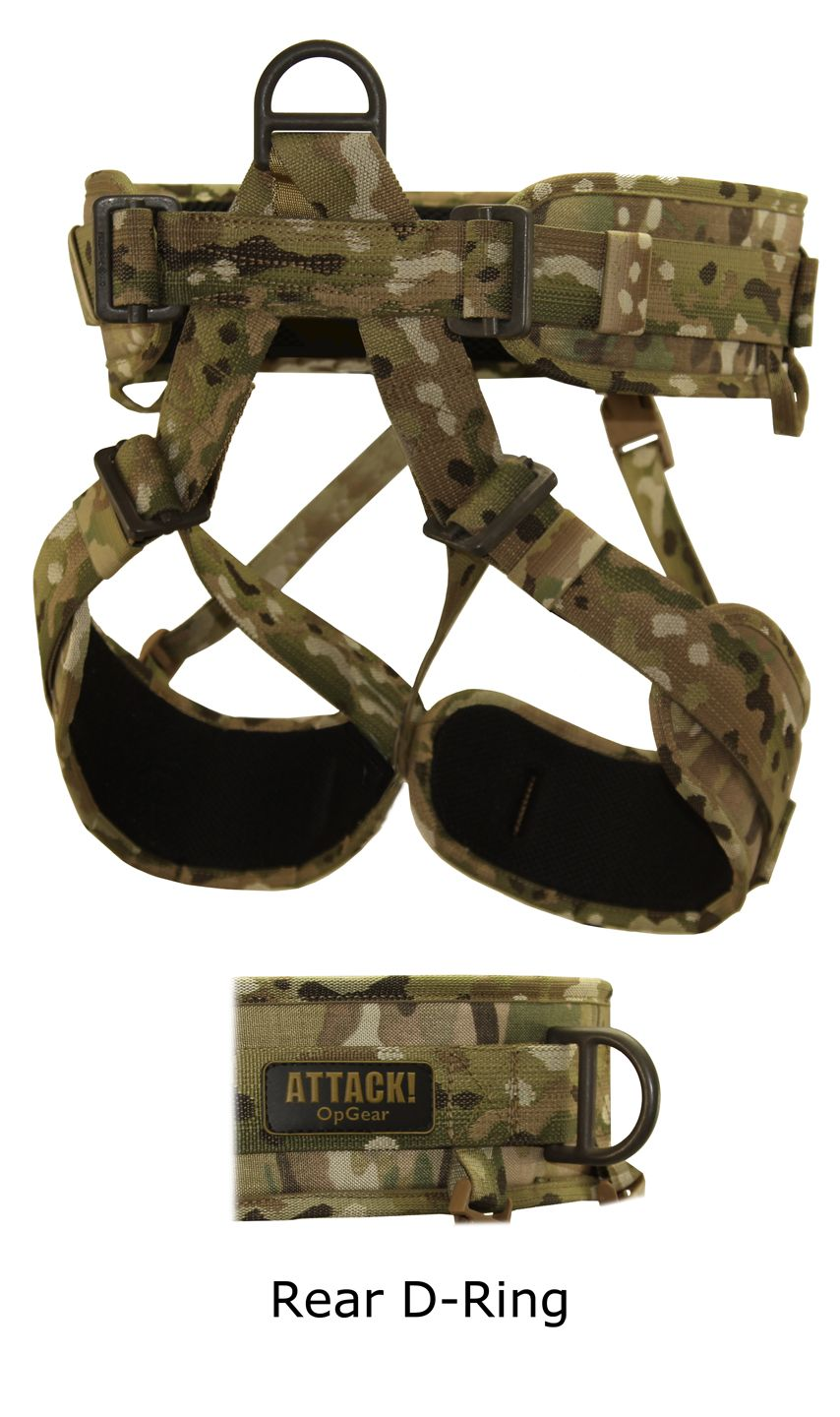 ATTACK! PADDED RAIDER RAPPELLING HARNESS Military gear