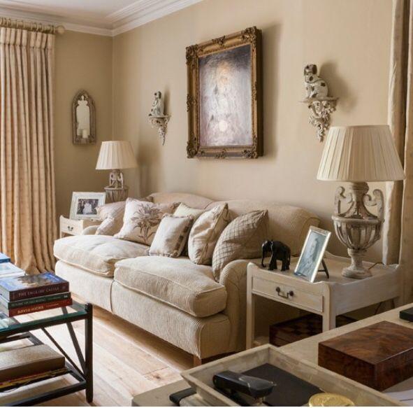 Neutral Living Room Cafe Au Lait Sofas And Pale Oak Floor Gold