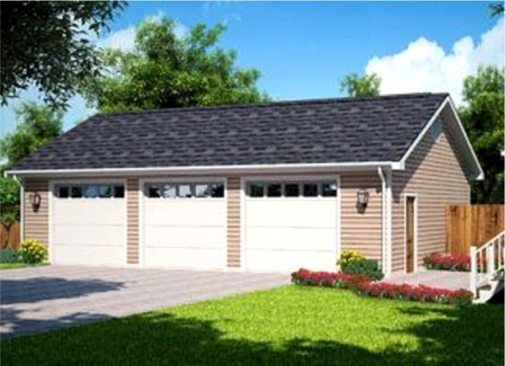 Soooo Want Need A Garage Just A Simple One Like This Garage Plans Detached Three Car Garage Plans Garage House Plans