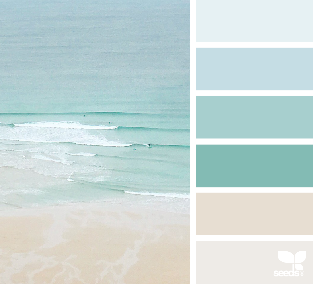 Color Sea | Color Pop | Bedroom color schemes, Coastal paint ...