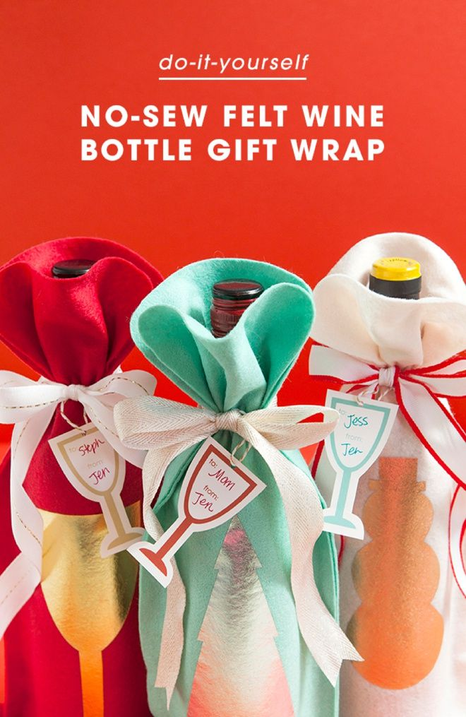 How to make a no sew felt wine bottle gift bag pinterest wine awesome and easy way to make the most adorable wine bottle gift bags plus free printable wine gift tags solutioingenieria Gallery