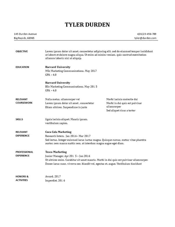Quora Resume templates, Sample resume, Resume