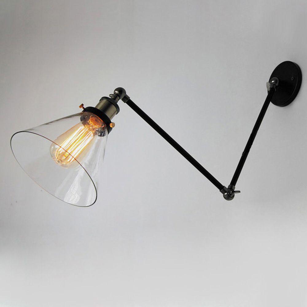 Pas Cher Vintage Lampes Pour Mur Industrielle Loft Swing Arm Wall Sconce  Réglable Entrepôt éclairage Ambiant