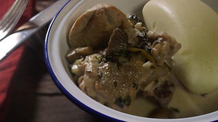 Chicken madeira and mushroom casserole recipe chicken madeira chicken madeira and mushroom casserole from james martins home comforts at christmas forumfinder Gallery
