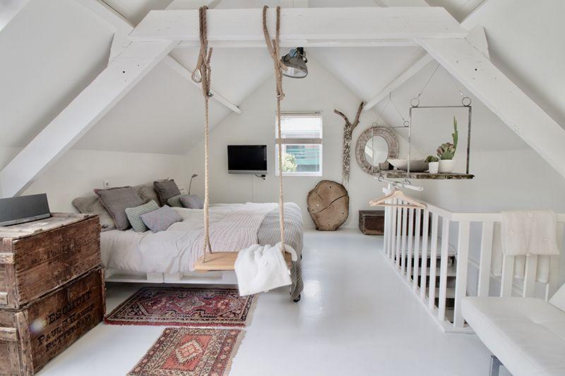 Selecteert inspirerende zolderkamers in sanne slaapkamer