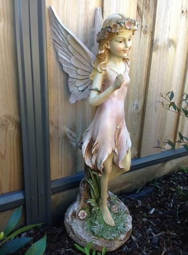 Large Garden Fairy Statues 75cm Large Angels Fairies Fairy Statues Sculptures Figurines Garden Fairy Garden Fairy Statues Garden Ornaments