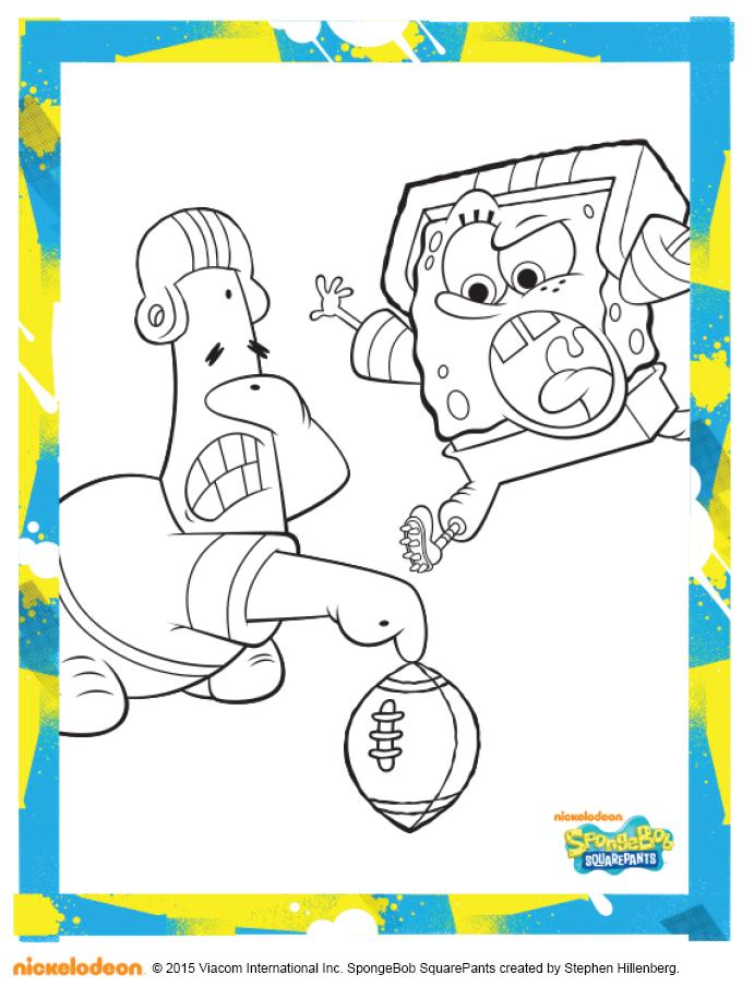 SpongeBob Football Coloring Pack