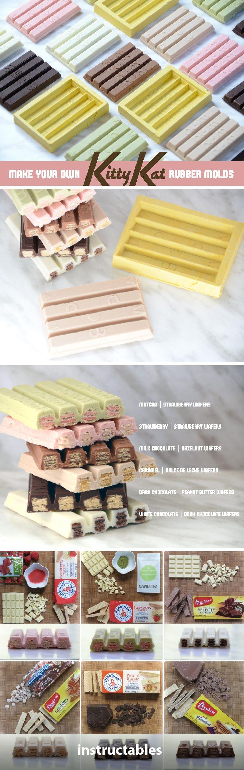 Diy kit kat molds food diy kits candy making