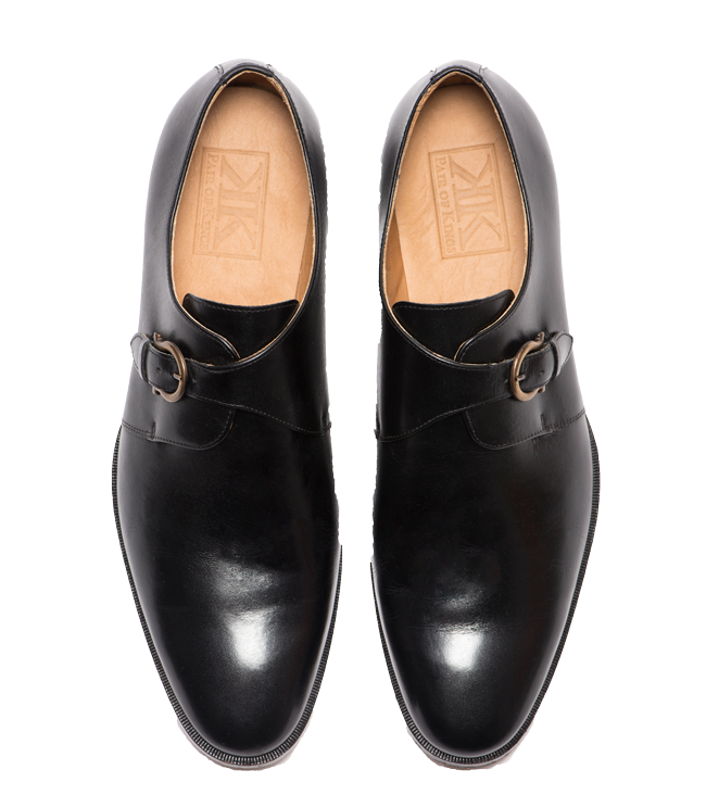 Men's Leather Formal Dress Mondern Monk Shoes