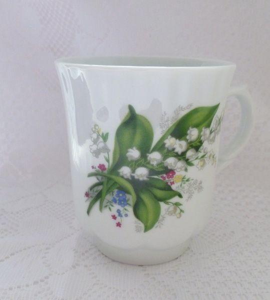 Vintage Tassen Kaffeebecher Maiglockchen Becher