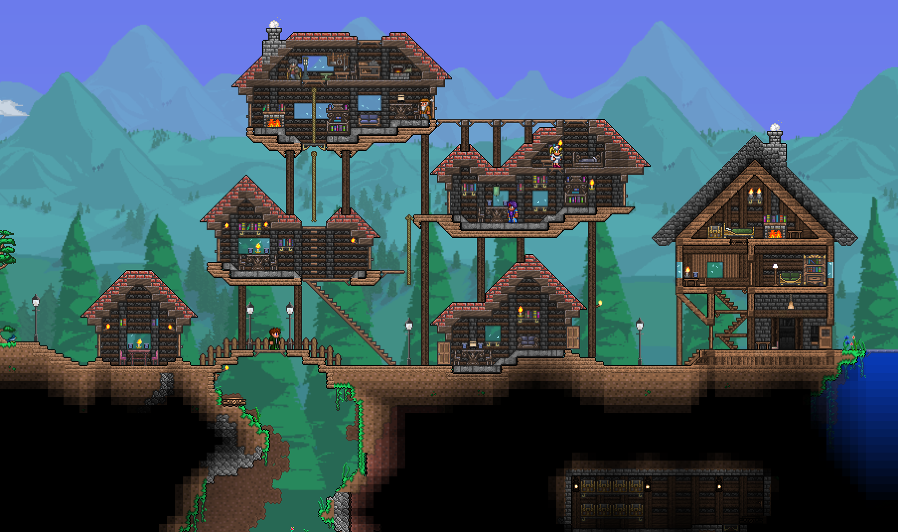 Good Wall Design Terraria Base Inspiration Terraria
