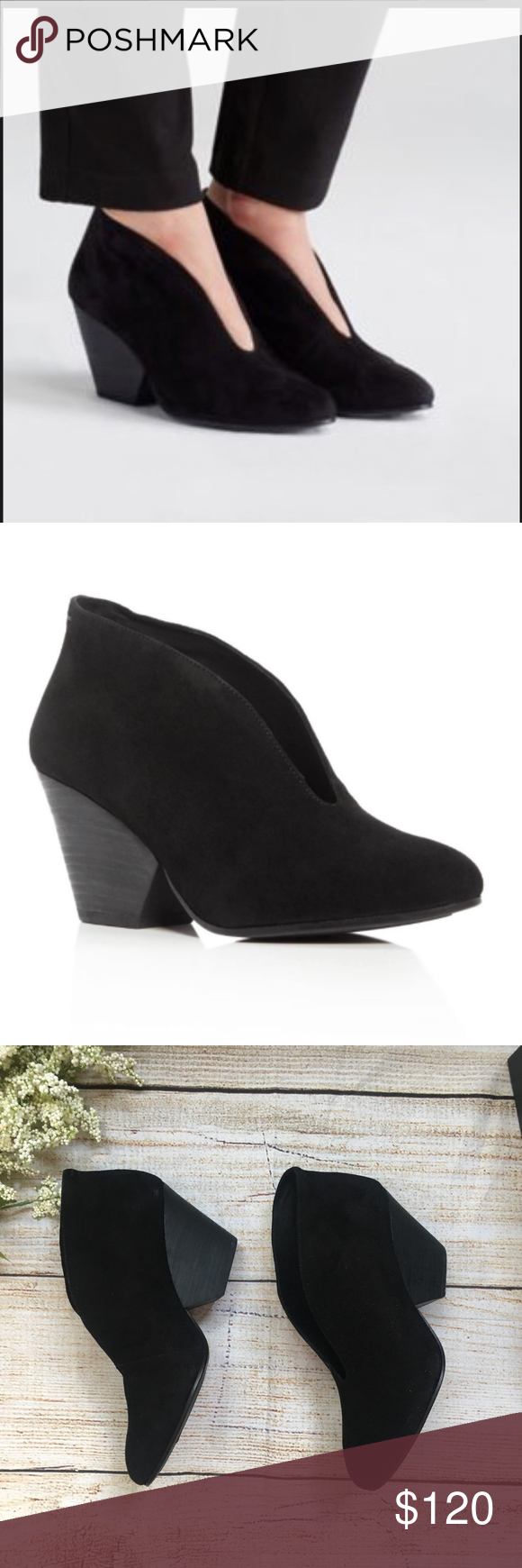 ba397679443c Eileen Fisher Iman Cut out Wedge Booties black 9 Great booties by Eileen  Fisher! New in Box