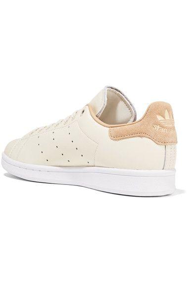 Stan Smith Chaussures En Cuir Garni Suède - Blanc Adidas Originals R7RGDfl4Bx