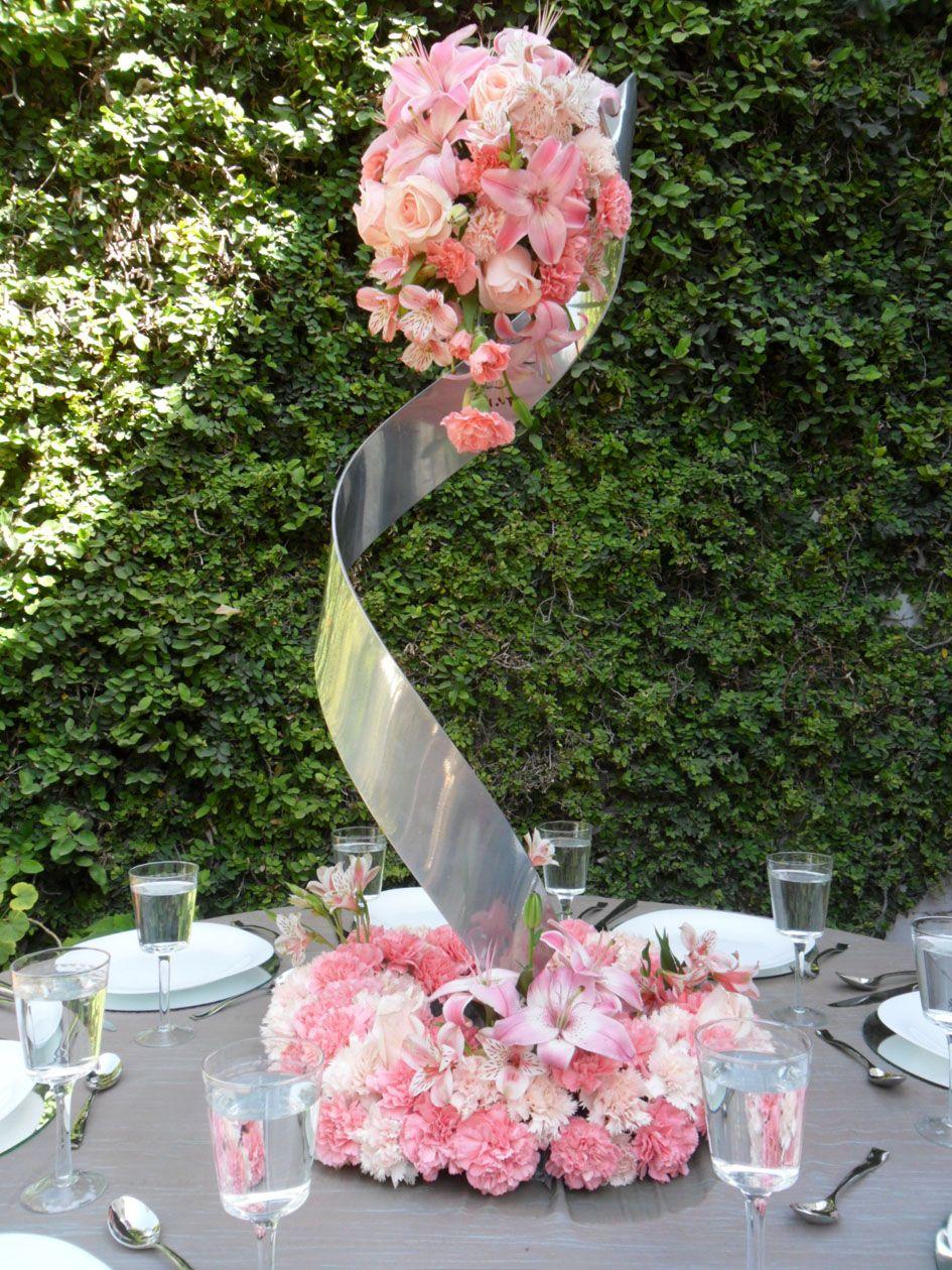 Arreglo en espiral para mesa de boda arreglos de boda - Centros de boda ...