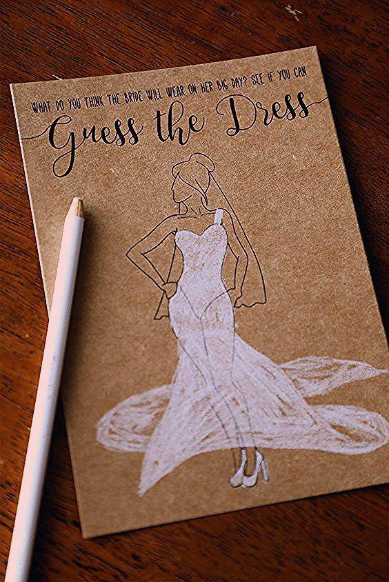 Photo of Guess the Dress Printable Bridal Shower Games . Bridal Shower Games . Unique Bridal Shower Ga…