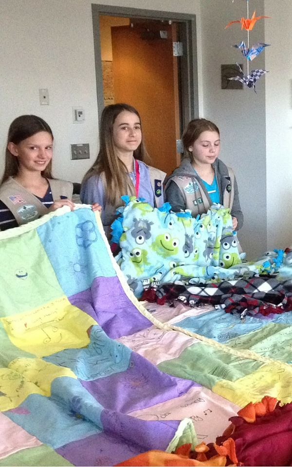 Awesome job Troop #47 for earning your Bronze Award by sewing quilts and blankets for the UNC Cancer Center! The girls developed sewing skills and then were able to provide blankets to patients so they can use them while undergoing treatment. You make us proud, Girl Scouts!