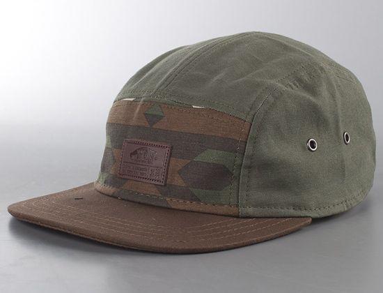 e8f7f94e53f Davis Native Camo 5 Panel Hat By Vans