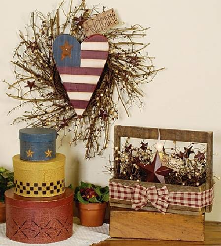 Magazine Country Decorating Ideas: Country Sampler Magazine, Wood Ruffles And Lace Primitives