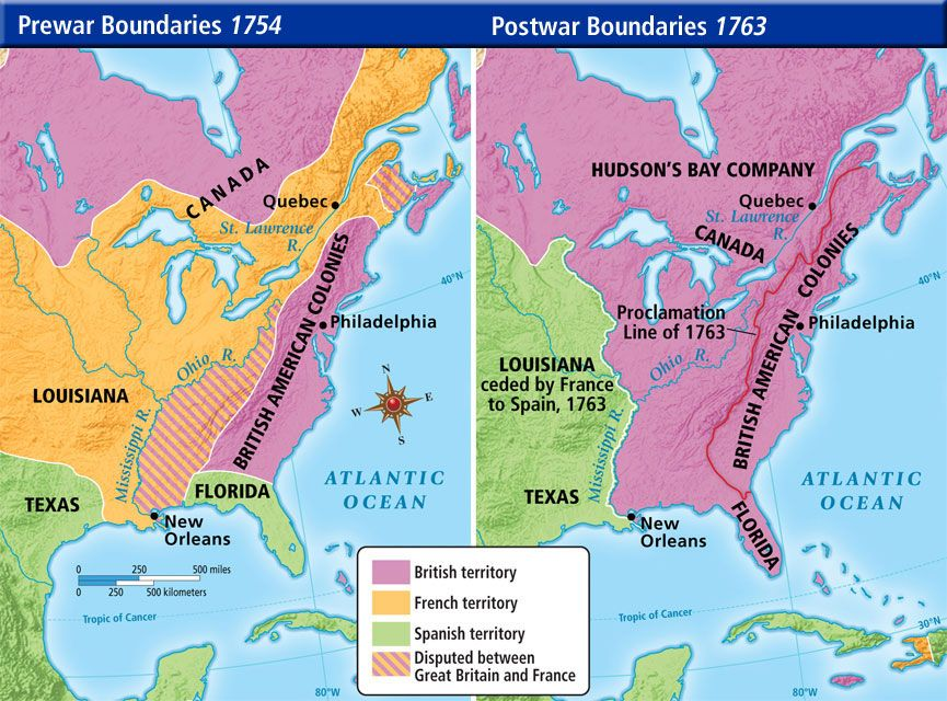 Territories Territories Changed Hands After The English Won The French And Indian War