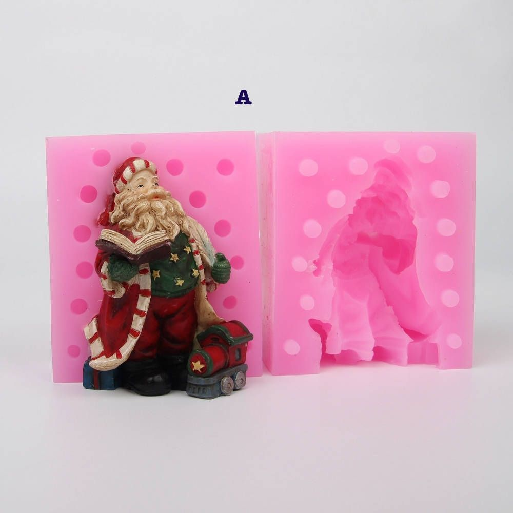 5 styles 3d santa clause christmas silicone mold soap clay chocolate jelly sugar paste fondant mold by msdiysupplies on etsy
