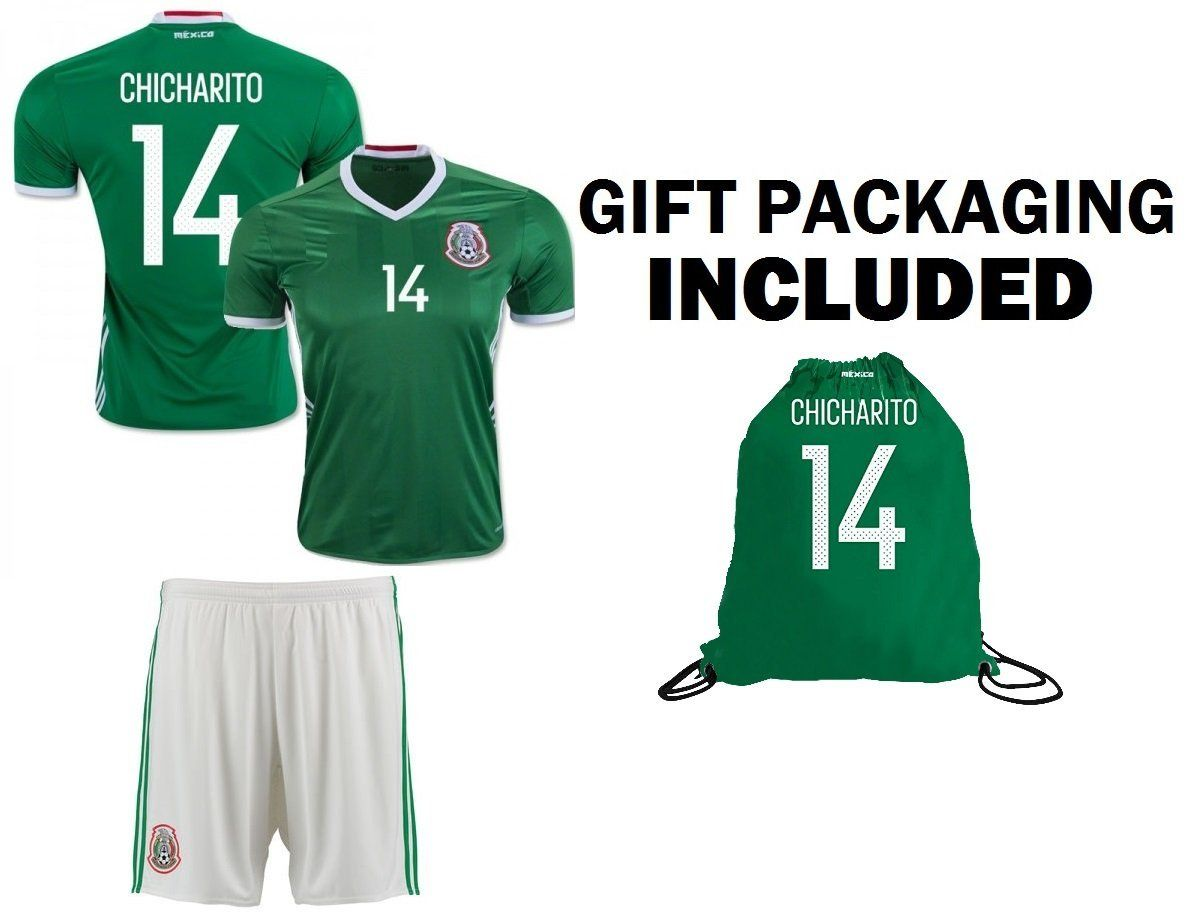 c3a7f070c7e Amazon.com   Fan Kitbag Chicharito  14 Mexico Youth Home Away Soccer Jersey