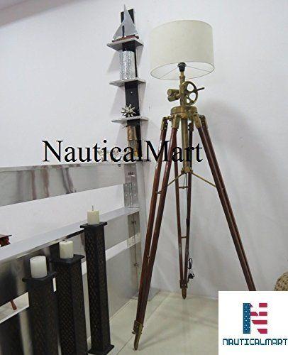 NauticalMart Al-Nurayn Royal Marine Tripod Floor Lamp | NAUTICALMART ...