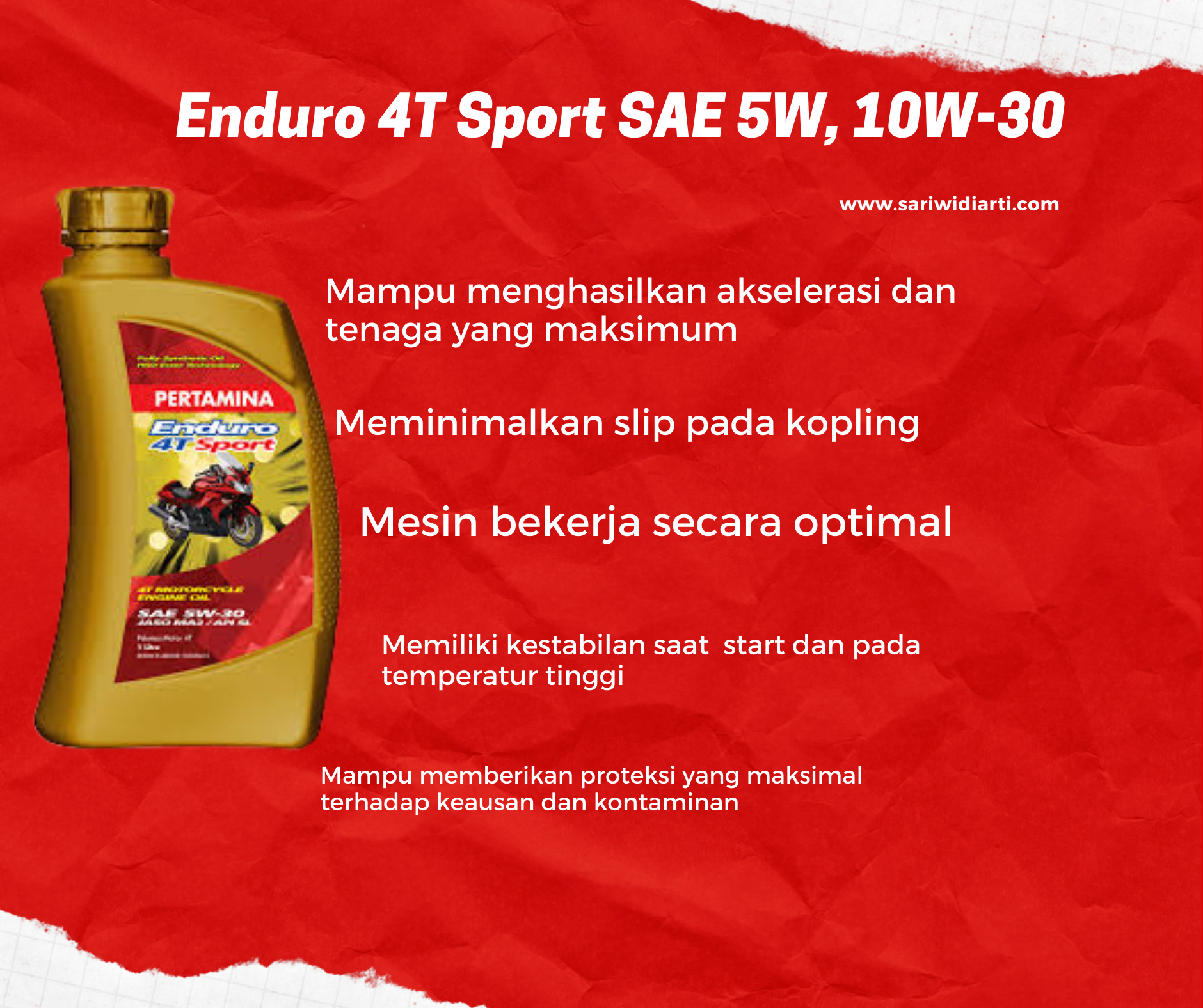 Enduro 4T Sport SAE 5W, 10W-30