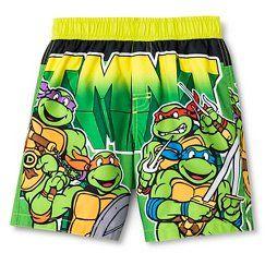 0919b26ac3 Toddler Boys' Teenage Mutant Ninja Turtles Swim Trunk - Multi Colored