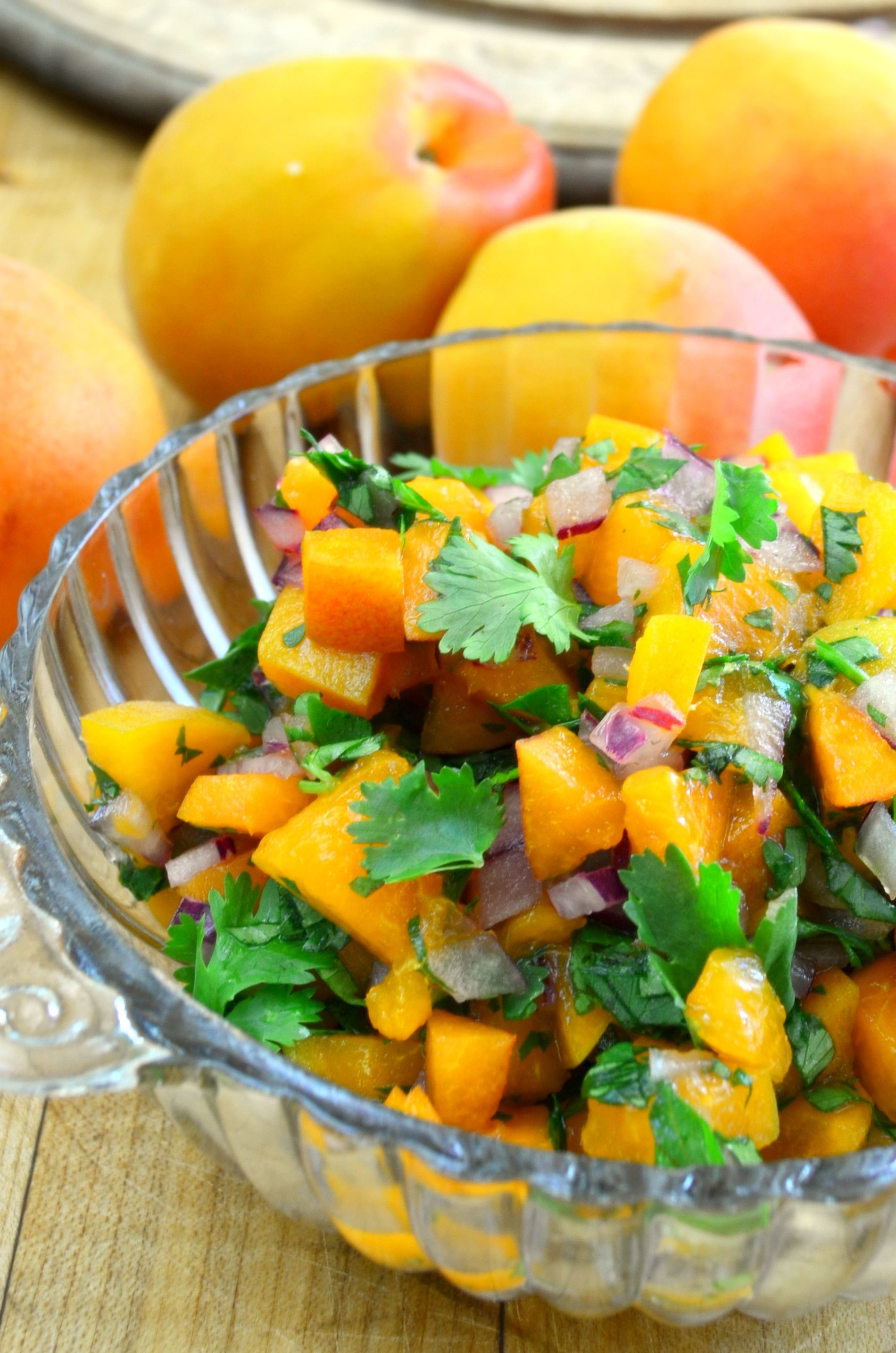 Apricot salsa is incredible served with any grilled meat