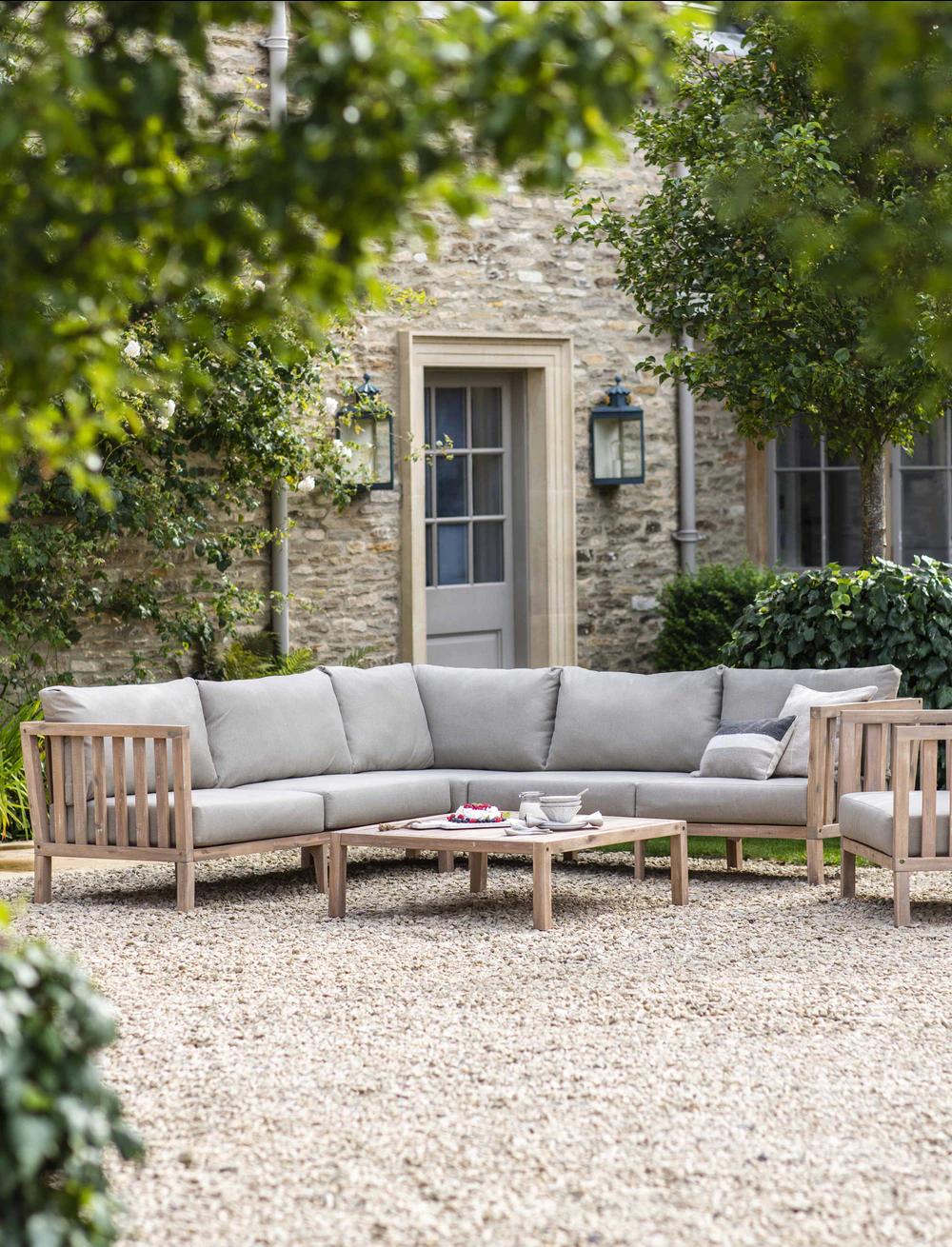 Porthallow Corner Sofa Set in 8  Garden sofa set, Outdoor sofa