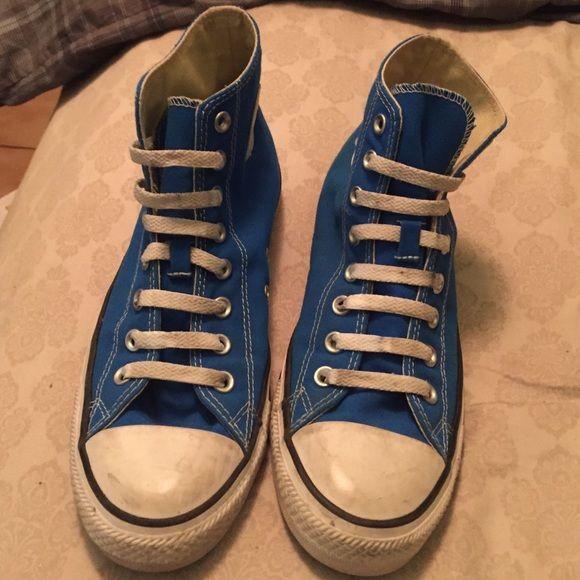 ea1361e5bda Blue High top Converse Slightly used. Size Men 8