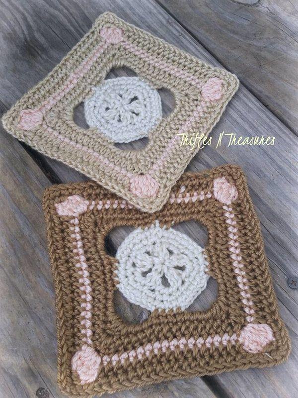 SandbarSquare~Free Pattern~TriflesNTreasures   bolso de croche ...