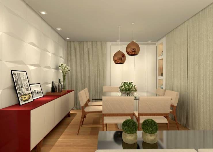 12 salas de jantar modernas e estilosas room for Aparadores modernos