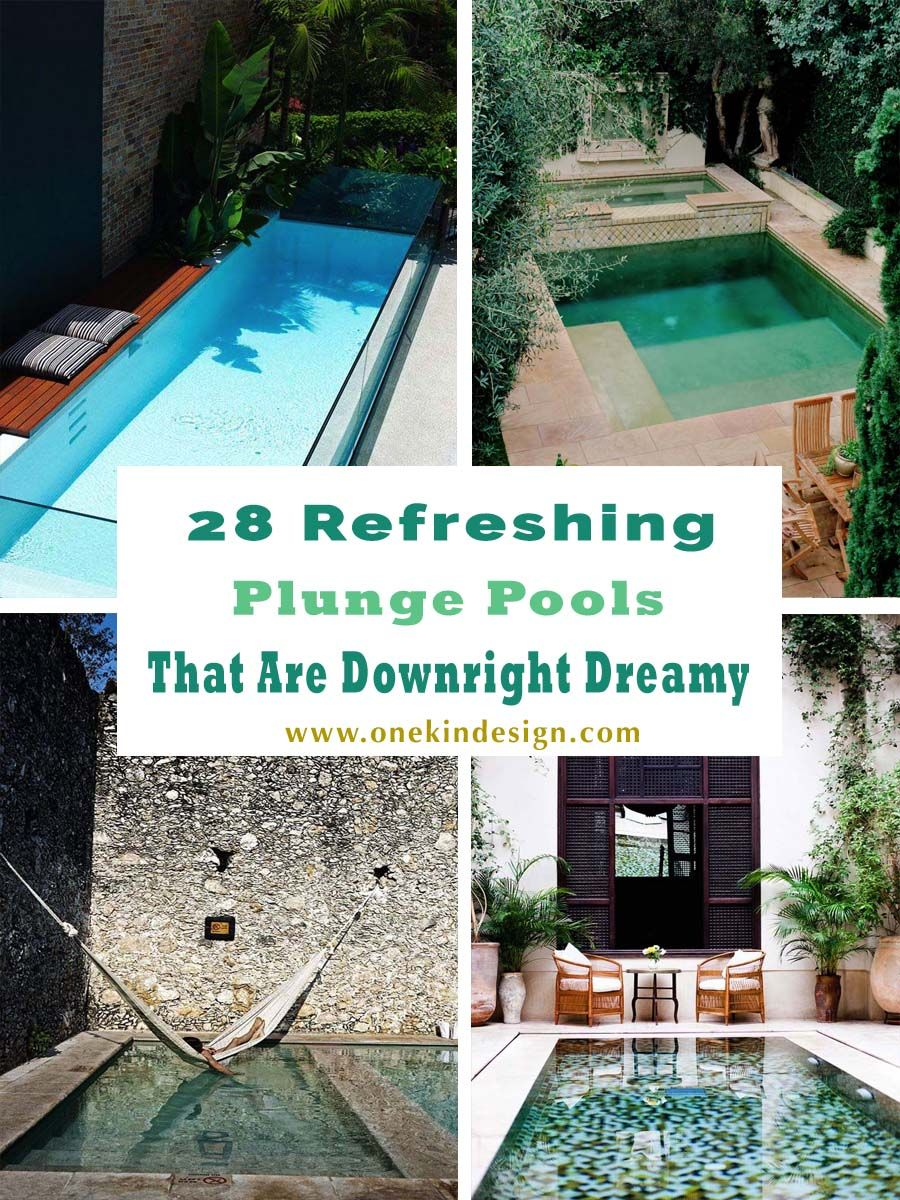 Tauchbecken Outdoor 28 Refreshing Plunge Pools That Are Downright Dreamy | Plunge Pool, Small Pool Design, Backyard Pool