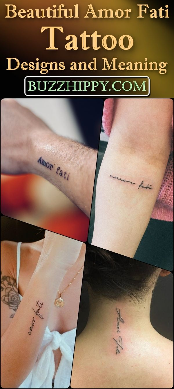 35 Beautiful Amor Fati Tattoo Designs and Meaning Buzz