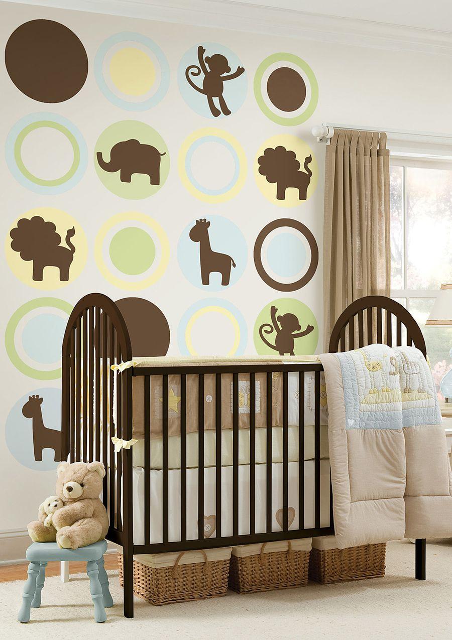 Cool Baby Boy Nursery Ideas: Wallpops! - Jungle Silhouettes