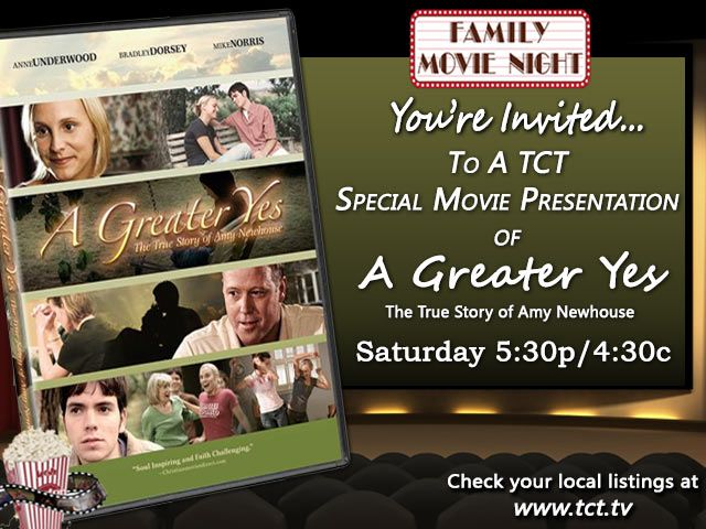 The Pure Flix film, A Greater Yes will be shown Saturday